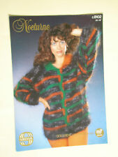 Knitting Pattern Ladies Patterned Sweater with Collar Sirdar Mohair 28-38 inch