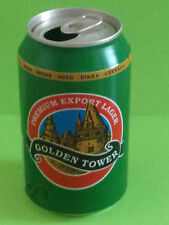 EMPTY BEER CAN 330ml. LATA CERVEZA - GOLDEN TOWER - 1997 (CAN070)