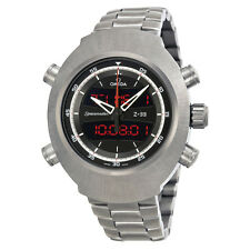 Omega Spacemaster Black Dial Stainless Steel Mens Watch 32590437901001