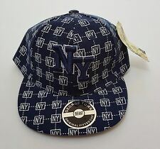 New!  New York George Town Original Infant 48 Fitted Ball Cap Navy and White
