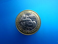 1998 VINTAGE car rally IOM £2 coin RARE TWO pound coin of - ISLE OF MAN
