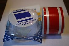 Pin stripe coachline tape red 5mm + 22mm + 5mm x 10m 02221/R