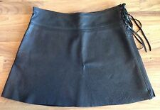 Potomac Leather Medium Black Mini Skirt Burning Man Renaissance Festival Fairy