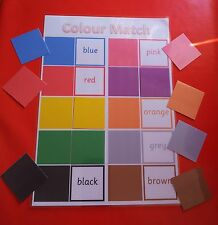 MATCH THE COLOUR GAME  -SPECIAL NEEDS/ PRE-SCHOOL/ EYFS/ FIRST LEARNING