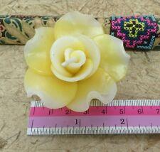 4 unscented yellow rose flower  candles Tea Light handmade 4 cm x 4 cm