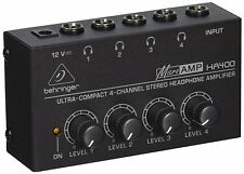 NEW Behringer HA400 4-Channel Stereo Headphone Amplifier