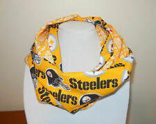 Pittsburgh Steelers Infinity Scarf Yellow Floral Cotton Double Loop Light Indoor