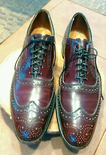 ALLEN EDMONDS MENS MCALLISTER WINGTIP OXFORD SHOES, MERLOT SIZE 12