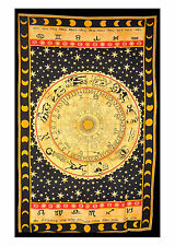 Zodiac Stars Mandala Wall Hanging Tapestry Sheet Picnic Table Beach Couch Throw