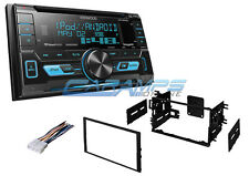 NEW KENWOOD DOUBLE DIN STEREO RADIO W/ INSTALL KIT & SIRIUS XM & AUX & USB INPUT