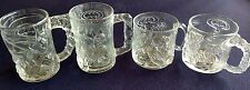 MCDONALD'S BATMAN FOREVER GLASS MUGS SET OF 4 MADE IN FRANCE 1995