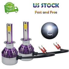H1 LED Headlight Conversion Kit 240W Beam Bulbs Pure White 2Pcs 6000K US Stock