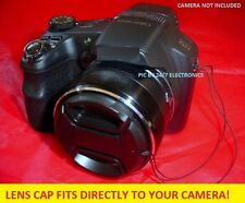 SNAP-ON LENS CAP DIRECT TO CAMERA PANASONIC LUMIX DMC-FZ100 FZ100K FZ150+HOLDER