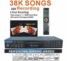 Karaoke Player Machine MIDI/ DVD/DviX/CDG 2Mics port karaoke system with songs