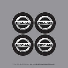 SKU2169 - 4 x Nissan Alloy Wheel Centre Cap Stickers Badges Car - 50mm