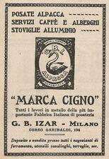 Z2188 G. B. Izar Fabbrica Posateria Marca CIGNO - Pubblicità d'epoca - Advertis.