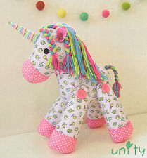 Unity Unicorn  - Sewing Craft PATTERN - Soft Toy Felt Rag Doll Horse Pony