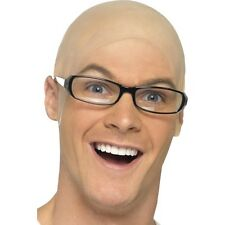 Bald Cap Unisex Comedy Skinhead Dr Evil Harry Hill Fancy Dress Fun Accessory