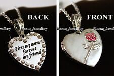 Silver Locket Necklace Mum Gifts for Her Mother Friend Mom BLACK FRIDAY DEALS X2