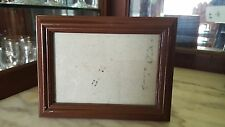 Vintage Brown Wood Traditional Wooden picture photo frame 3.5 x 5 opening