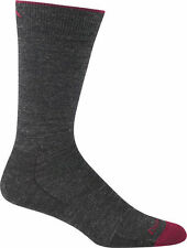 DARN TOUGH MEN'S TRAVEL 1617 SOLID BASIC CREW LIGHT MERINO WOOL SOCK CHARCOAL L