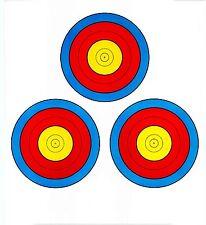 FITA Style Three Spot Vegas Archery Paper Targets - 17.5x19.5 - 43 Qty