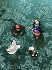 Lot of 4 Hallmark Halloween Ornaments Witch Ghost Skeleton Dog Bat