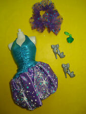 Barbie FASHIONISTA STYLE LIFE IN THE DREAM HOUSE Doll Clothes Lot Bubble Dress