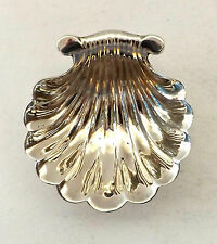 Shell Dish Butter Oyster Solid Sterling Silver Rococo Revival Hutton 1907