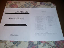 Phase Linear 300 Series 2 Power Amplifier - Service Manual.