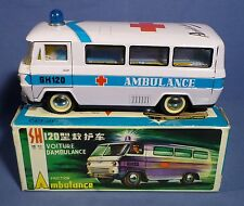 China MF 132 Ambulance Blech Krankenwagen Bus vintage 70's tin toy boxed A162