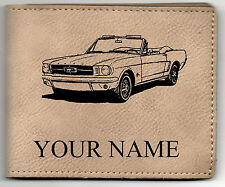 64-66 Mustang Con Leather Billfold With Drawing and Your Name On It-Nice Quality