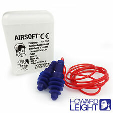 1 Paio riutilizzabili HOWARD LEIGHT By Honeywell Ear Plugs-AIRSOFT Earplugs Con filo