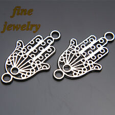 50Pcs 27mm hand Charms Pendant Linker Connector Tibet Silver DIY Jewelry 7166