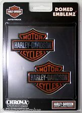 harley davidson bike 2 pac raised 3d emblem tag chrome adhesive sticker HD decal