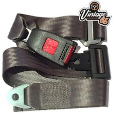 Vintage Warehouse Classic Grey Front Rear Static 2 point Seat Lap Safety Belt