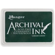 Ranger Archival  Waterproof Permanent Ink Pad Non-Toxic LIBRARY GREEN Emerald