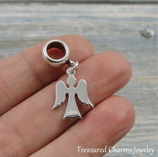 925 Sterling Silver Angel Dangle Bead Charm - Large Hole fits European Bracelets