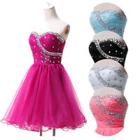 Womens Ladies Banquet Evening Formal Party Ball Gown Prom Bridesmaid Short Dress