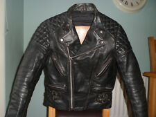 Vintage leather biker jacket-size 44 LARGE-MED-NICELY SCUFFED-CAFE RACER JACKET