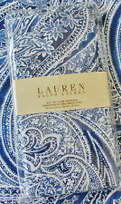 New ~ Ralph Lauren Set 4 Cloth Napkins ~ Veranda Paisley ~ Royal Blue & White