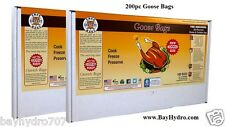 "200pc True Liberty Goose Bags 18"" x 24"" Smell Proof Oven Safe SAVE $$ BAY HYDRO"