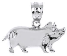 Sterling Silver Charm Pig Pendant