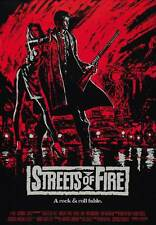"""""""STREETS OF FIRE"""" Movie Poster [Licensed-NEW-USA] 27x40"""" Theater Size (1984) Red"""