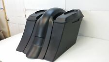 "YAMAHA ROAD STAR 1999 & UP BAGGER 5-1/2"" Stretched Saddle Bags, Fender & 6x9Lids"