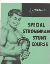 Joe Weider Bodybuilding Special Strongman Stunts Course 1959 green color booklet