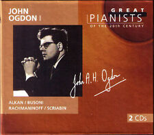 John OGDON 1: GREAT PIANISTS OF THE 20TH CENTURY 2CD Alkan Busoni Rachmaninov