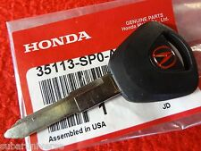 NEW Genuine OEM Honda Master Key Blank =RED= Acura Integra 86-89 & Legend 86-95