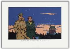 Affiche Sérigraphie Ted Benoit Blake et Mortimer Québec 2002 50x73