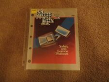 1986 FORD SHOP TIPS DEALER MAGAZINE SAFETY AND SERVICE FEATURES ISSUE NOV-DEC 86